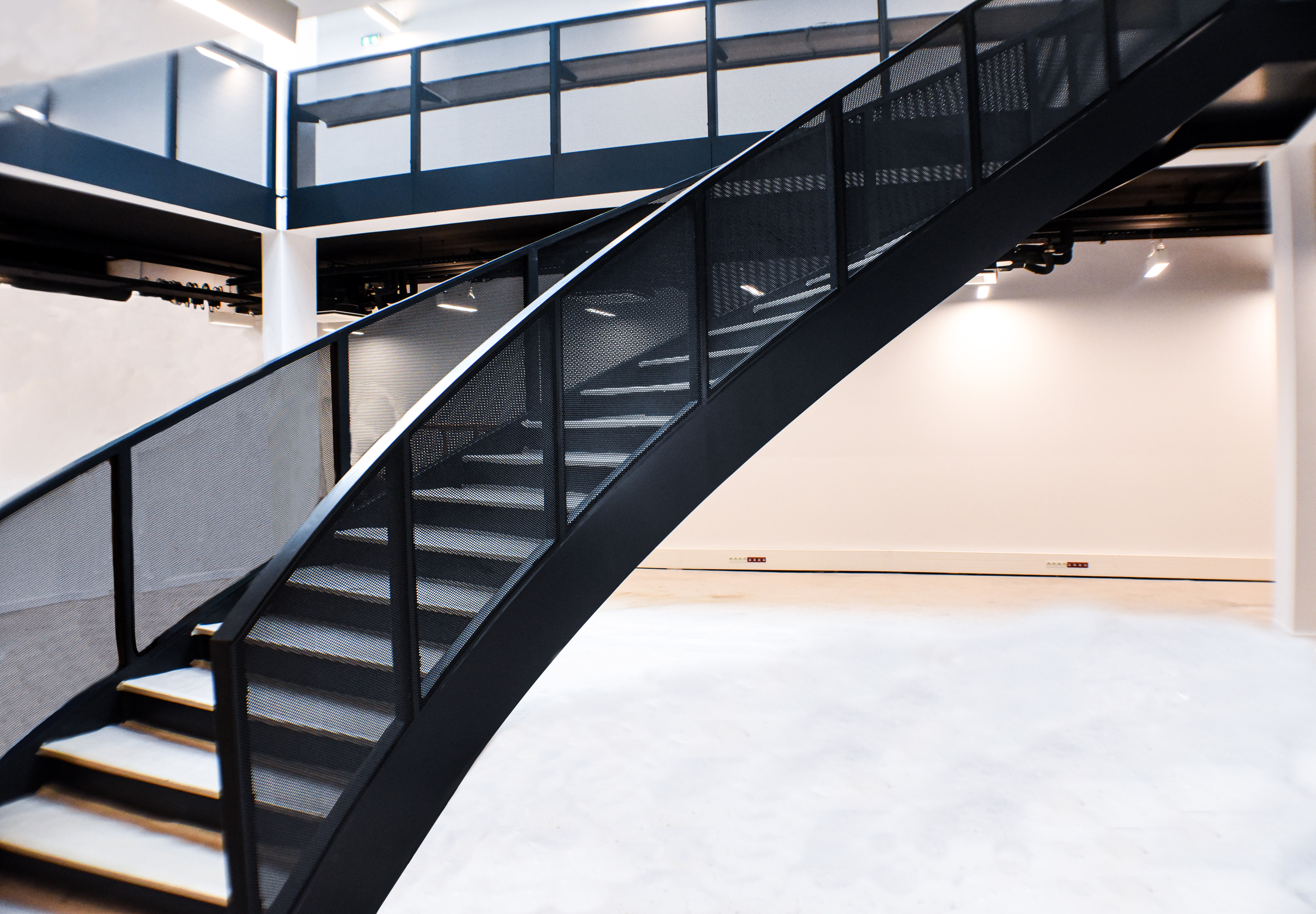 escalier métallique remis à neuf