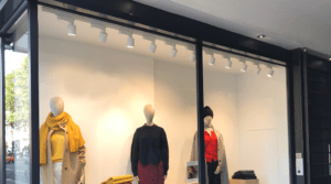 peindre chassis baie vitree devanture magasin metallique
